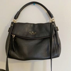 Kate Spade Black pebble leather Crossbody Purse
